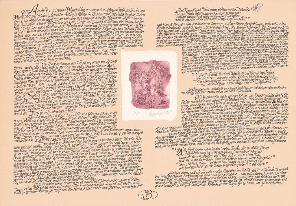"""Das dritte von vier Blättern aus der Mütternachts-Edition """"797"""" über die Türkeireise des Jahres 1979 mit Ulrike und Klaus"""