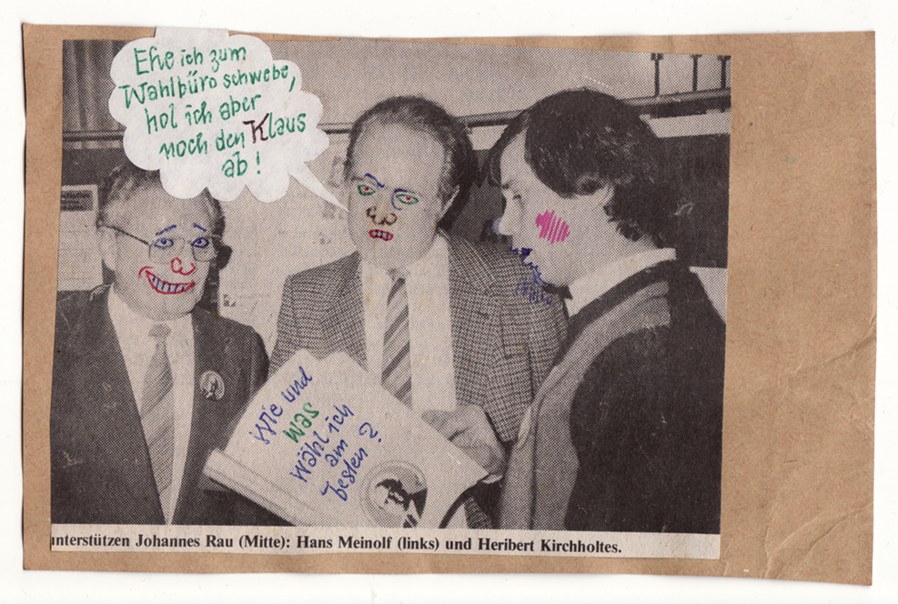 Postkarte an Klaus Urbons